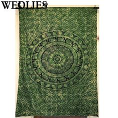 Polyester Indian Mandala Tapestry Wall Hanging Throw Blanket Yoga Mat Bedspread Picnic Cloth Home Bedroom Decorative Textiles