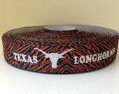 Hey, I found this really awesome Etsy listing at https://www.etsy.com/listing/176436683/4-yards-of-texas-longhorn-grosgrain