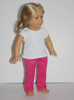 """18"""" Doll Pink Skinny Jeans stretch Fit 18"""" Doll, Doll Clothes fit dolls like American Girl"""