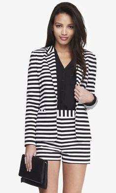 24 INCH HORIZTONTAL STRIPE KNIT BLAZER from EXPRESS http://www.express.com/clothing/24+inch+horiztontal+stripe+knit+blazer/pro/6774422/cat320022