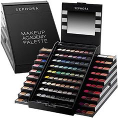 Sephora Makeup Academy Kit (Limited Edition) only used two of the shadows about 3 times // everything else is untouched // perfect condition Makeup
