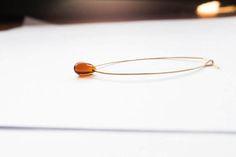 Boucle d'oreille Ole - Inspiration bijoux - pour elle - minimaliste - géométrique - en laiton - boucles d'oreilles créoles - personnalisée