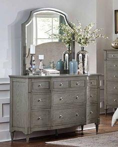Homelegance - Albright Dresser with Mirror - 1717-5-1717-6