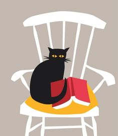 Crazy Cat Lady, Crazy Cats, I Love Cats, Cool Cats, Black Cat Art, Black Cats, Winnie, All About Cats, Book Images