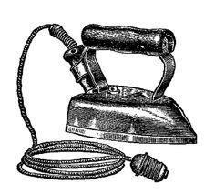 Digital Stamp Design: Free Iron Digital Stamps: 3 Antique Iron Illustrations
