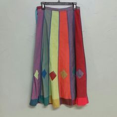 """Skirt of Many Colors Gorgeous cotton skirt.  Side zip.  34"""" long. 14 1/4"""" wide waist (laid flat).  Excellent condition! Gorilla Clothing  Skirts A-Line or Full"""