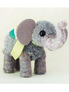 Craft Project: Pompom Elephant