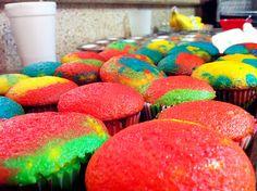 Tye Dye Cupcakes