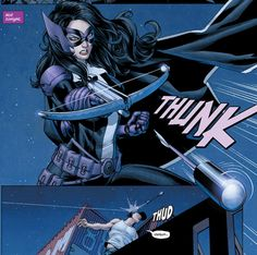 May I introduce myself? Helena Wayne, Batman's  Catwoman's daughter, Huntress II.