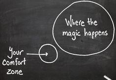 Sal de tu zona de confort     - Leyenda: Tu zona de confort, Donde está pasando la mágia