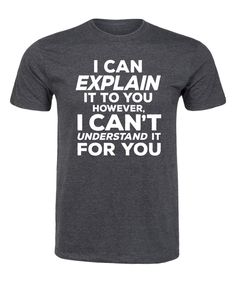 Take a look at this Heather Charcoal 'Understand It for You' Tee - Men's Regular today!