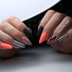 Are you feeling brave enough to try these stiletto nail designs? – Cocopipi - Are you feeling brave enough to try these stiletto nail designs? – Cocopipi Are you feeling brave enough to try these stiletto nail designs? Shellac Nails, Stiletto Nails, Nail Manicure, Coffin Nails, Hot Nails, Hair And Nails, Sharp Nails, Geometric Nail, Pin On