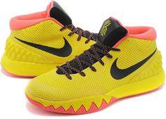 online store e7766 c54b2 Nike Kyrie 1 Wholesale Yellow Black Bright Crimson1 Running Shoes Nike, Nike  Free Shoes,