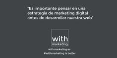 Antes de realizar un diseño web piensa en la estrategia de marketing digital  #web #diseñoweb #withmarketing #marketing #estrategia #diseño
