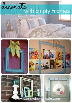 34ab17a2d0c decorating with empty frames Empty Picture Frames