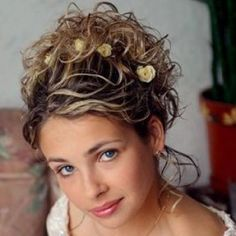Short Hair Updos for Weddings | Curly wedding hairstyles for short hair pictures 2