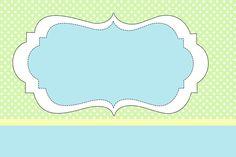 Poá Verde e Azul - Kit Completo com molduras para convites, rótulos para guloseimas, lembrancinhas e imagens! - Fazendo a Nossa Festa