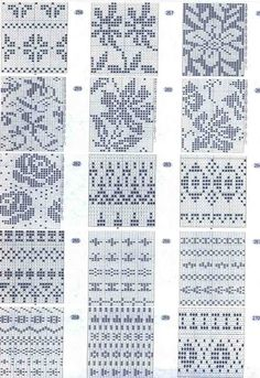 Musturi – Sarmīte Lagzdiņa – an incredible number of patterns, including stockings, baby han … - Knitting and Crochet Fair Isle Knitting Patterns, Fair Isle Pattern, Knitting Charts, Knitting Stitches, Knitting Designs, Knit Patterns, Cross Stitch Patterns, Number Patterns, Doily Patterns