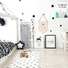 Some boys room inspo from @irina_pushko loving the crisp look in here! Be kind and He will move mountains prints looking Happy Friday everyone! by toucan_
