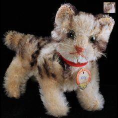 Image detail for -... Steiff Striped KITTY Cat Kitten Glass Eyes IDs from rosalie-steiff on