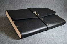Perfect gift for boss or co-worker. Laptop Bags – Leather felted wooden case for MacBook Air 13 – a unique product by Viktoriia-Ua via en.DaWanda.com