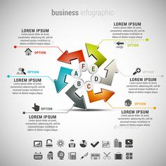 Business Infographic — Photoshop PSD #colorful #step • Available here → https://graphicriver.net/item/business-infographic/13453493?ref=pxcr