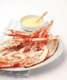 #Scampi al forno con maionese allo zenzero