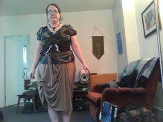 Steampunk bustled skirt