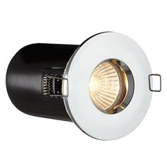 Saxby Recessed Bathroom Spotlight, Chrome