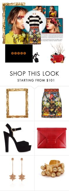 """Print mix and match!"" by mariakrt85 ❤ liked on Polyvore featuring Lanvin, Chanel, Dolce&Gabbana, Steve Madden, Oscar de la Renta, Noor Fares and Sylvia Toledano"