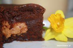 Blog kulinarny przedstawia brownie z masłem orzechowym :-)