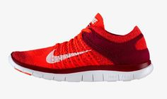 51% off 2014 Nike Free Flyknit 4.0 Womens Wine Red Bright Red Laser Orange Ice White running shoes 2015