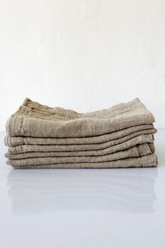 linum washed linen taupe napkin – Lost & Found