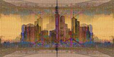 'Frankfurt am Main Skyline' von Marie Luise Strohmenger bei artflakes.com als Poster oder Kunstdruck $19.41
