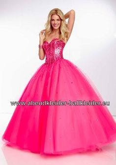 Ballon Kleid Pinkes Abendkleid Ballkleid Online