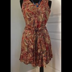 Boutique summer dress. Never worn! Sash can me worn as a scarf or belt Dresses Midi