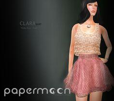 PaperMoon- CLARA Skirt-  Polka Dots - Pink
