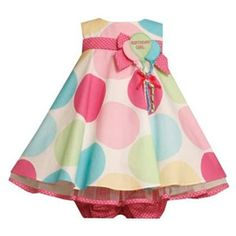 Happy #Birthday Baby!!  Bonnie Jean Birthday Girl Polka Dot Dress