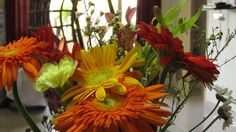 Flowers always a good choice! Never fails to brighten the day!