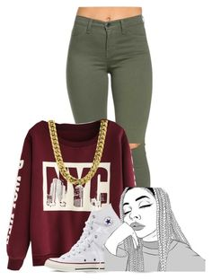 """""""Nasty Freestyle Remix- Ty Dollar $ign"""" by pinkswagg15 ❤ liked on Polyvore featuring Converse"""