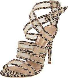my style LOEFFLER RANDALL Women's Paige Sandal, Zebra, 9 M US