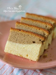 Tried & tested: Coffee Ogura Cake Result: fluffy pillow cake. Reduce temperature to probably to reduce cracking on the top Marble Cake Recipes, Sponge Cake Recipes, Dessert Dishes, Dessert For Dinner, Baking Recipes, Snack Recipes, Dessert Recipes, Keto Desserts, Coffee Dessert