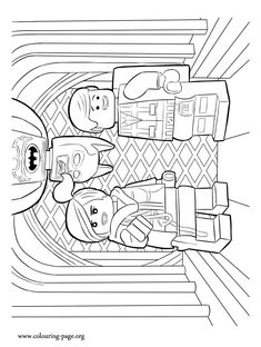 The LEGO Movie Coloring Page Benny And His Spaceship Printable