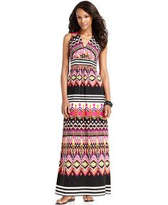 Modest, moderately-priced maxi dress for the summer.