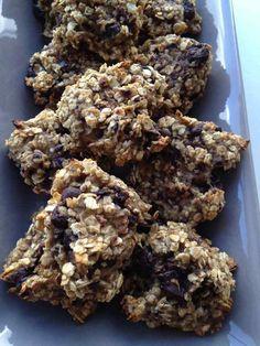 Cookies bananes flocons d'avoine cuisson 15 minutes à 180C