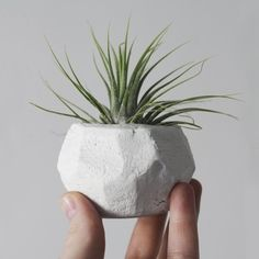 DIY Geometric Clay Pot