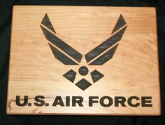US Air Force Personalized Cutting Board - Great Military Gift by TopChopButcherBlock on Etsy