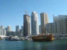 Dubai Marina from a sea cruise - towers and yachts http://www.dubaichronicle.com/category/life/travel/