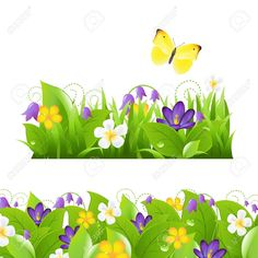 Illustration of 2 Flower Borders Set, Isolated On White Background,Illustration vector art, clipart and stock vectors. Fish Vector, Vector Art, School Board Decoration, Fish Under The Sea, Printable Border, Underwater Background, Frame Border Design, Fish Icon, Night Scenery