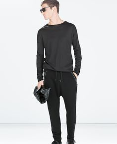 Image 1 of SIDE ZIP TROUSERS from Zara